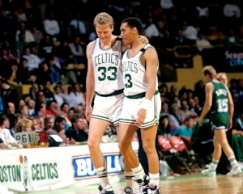 Larry Bird and Dennis Johnson